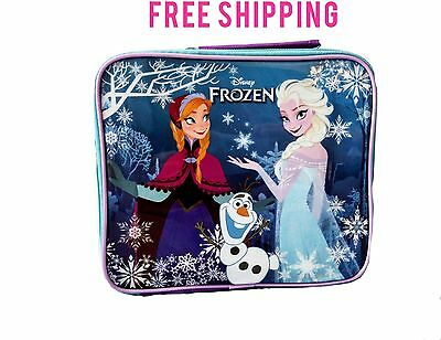 New Unique Disney Frozen Anna Elsa Olaf Soft Insulated Lunch Box Back To School