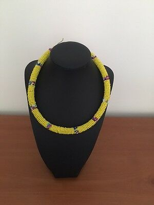 Ethnic African Kenyan Masai round small necklace
