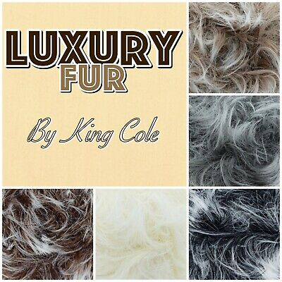 King Cole Luxe Luxury Fur Fluffy Eyelash Teddy Bear Knitting Yarn 100g Ball