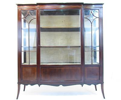 A Well Proportioned Antique Mahogany 19th C Glazed Display Cabinet