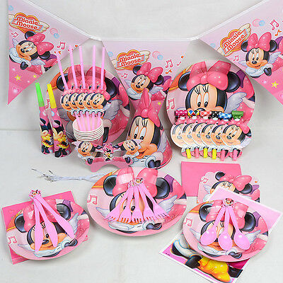 15 Pcs - Wedding Party Birthday Table Decoration Kit Disney's Minnie Mouse