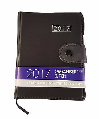 2017 Diary A6 Calendar Organiser  Page a Week to View Hard Back Planners