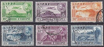 Ethiopia: Air Post Stamps: 1947 various low value, very fine used