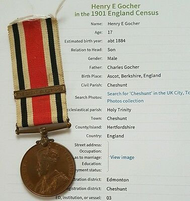 Special Constabulary Service Medal to Henry E Gocher, Ascot Berkshire Man