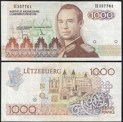 Luxemburg - Luxembourg 1000 Francs Banknote (1985) Pick 59 VF H357761 (13555