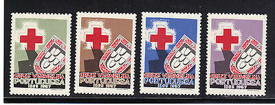 Portugal Red Cross Stamp Set Mint Never Hinged MNH 1957