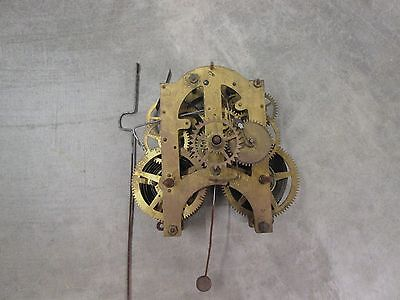 Old Ansonia Calendar Clock Movement, 10, power to both trains, parts or repairs