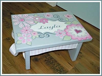 Hand Painted & Personalized Kids Step Stool