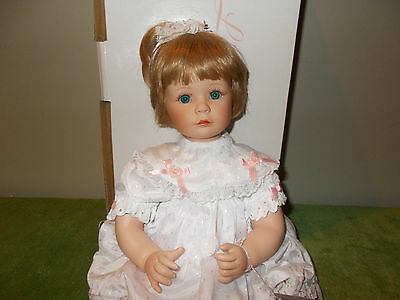 "Little One by Susan Wakeen Danbury Mint 17"" Sitting Porcelain Doll"