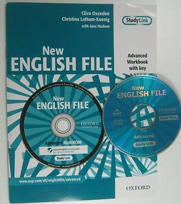 Oxford NEW ENGLISH FILE ADVANCED WORKBOOK WIH KEY AND MULTI - ROM CLIVE OXENDEN