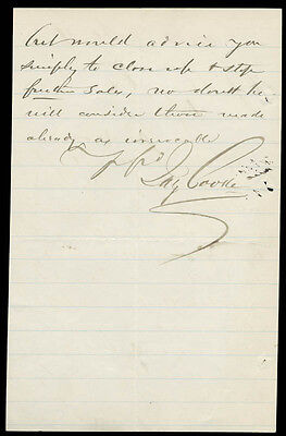 Jay Cooke - Autograph Letter Signed 11/10/1880