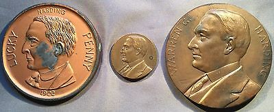 1920's Presidential Medallions, Lot of 3,  James Garfield, Bert Sugar Collection