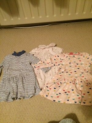Mamas And Papas Dresses 3 Pack Age 6-9months