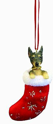 Miniature Pinscher Min Pin Santa's Little Pals Dog Christmas Ornament