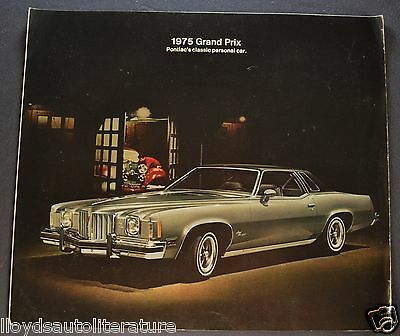 1975 Pontiac Grand Prix Sales Brochure Folder Nice Original 75
