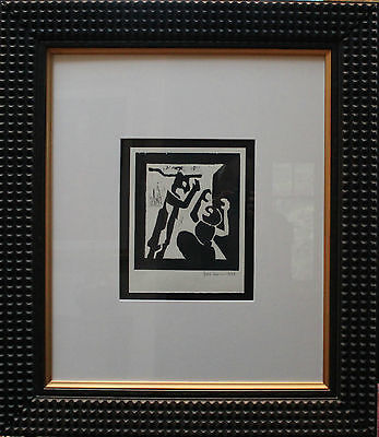 Jacob Lawrence Original Serigraph Hand Signed Numbered Abstract Framed 1997