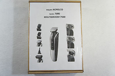 Factory Refurb Philips Norelco Multigroom 7500 Body Beard Hair Nose Trimmer