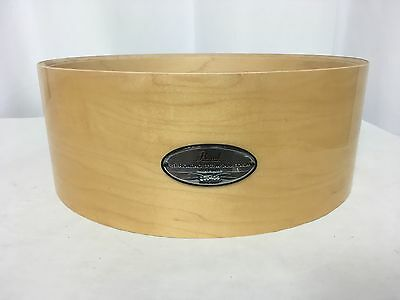 "Pearl Free Floating 14"" Diameter X 6.5"" Deep Snare Shell/Natural Maple/# 102/NEW"