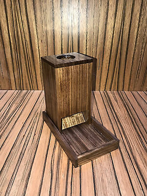 Dice Tower and Tray - Solid Walnut