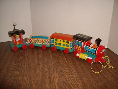 Huffy Puffy Train Fisher Price Vintage Toy 1963