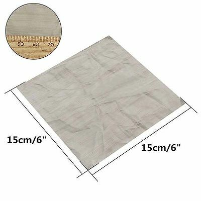 """6"""" 500 Mesh Woven Wire Mesh Filter Cloth Screen Square Sheet 316 Stainless Steel"""