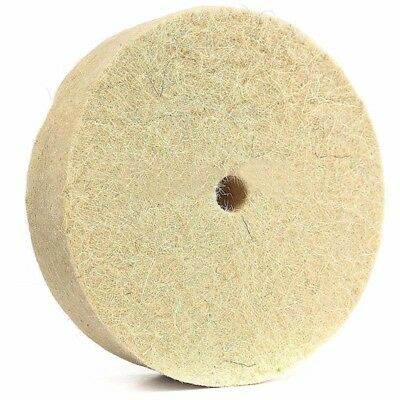 "4"" Round Polishing Wheel Wool Felt Polisher Buffing Pad Disc for Rotary Tool"