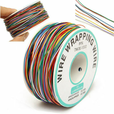 30AWG 0.25mm Tin Plated Copper Wire Wrapping Insulation Test Cable 8-Colored