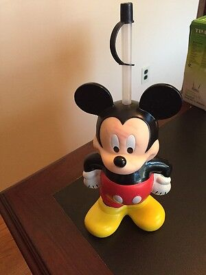 Vintage Disney Mickey Mouse Figural Water Bottle by Monogram 12inch