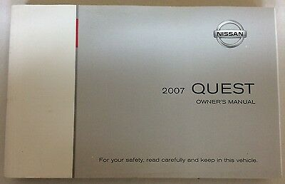 2007 Nissan Quest Owner's Manual