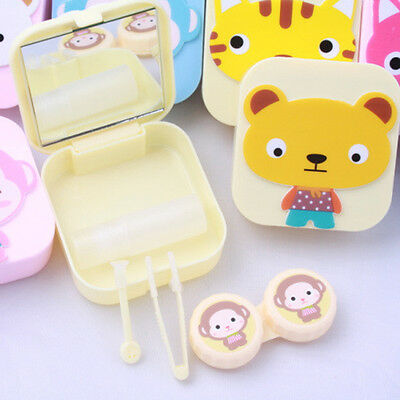 Portable Travel Contact Lens Case Set Storage Box Container With Mirror