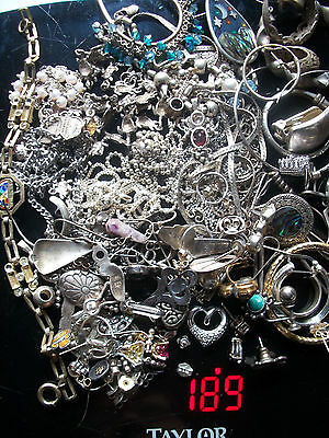 Lot Of Vintage Sterling Silver Jewelry Scrap Lot 189 Grams