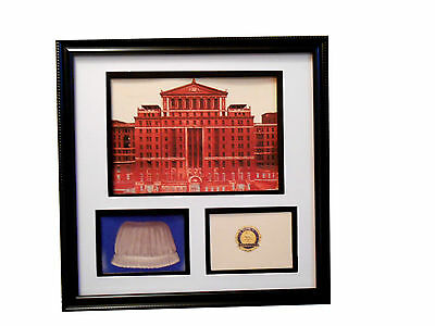 BELLEVUE HOSPITAL NURSING SCHOOL Cap Pin NEW YORK CITY  Framed Commemorative