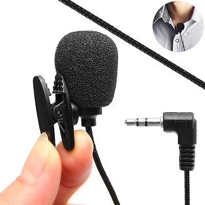 Universal 3.5mm Hands-free Microphone Clip Lapel Wireless For Laptop Notebook PC