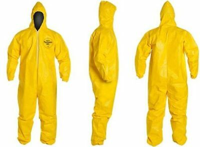 Dupont Tychem Tyvek QC QC127 Chemical Hazmat Suit YELLOW NEW