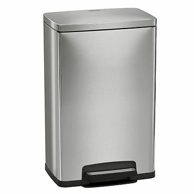 NEW Tramontina 13 Gallon Stainless Steel Step Trash Can & Freshener Cartridges