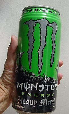 32 OUNCE Monster Energy Drink Full Sealed Can HEAVY METAL