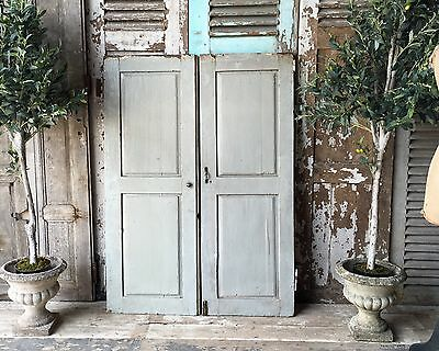 Pair Of Vintage French Rustic Shutters