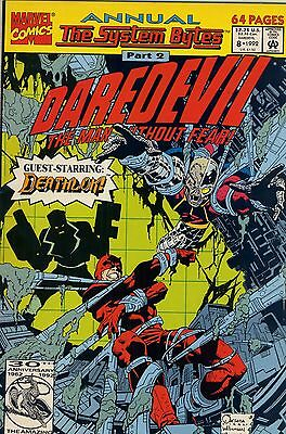 1992 Daredevil #8 Annual ( The System Bytes: Deathlok )  Marvel Comics Vf-Nm