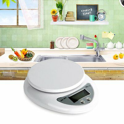 Compact Digital Kitchen Scale Diet Food 5KG 11LBS x 1g w/Bowl Electronic Weight#