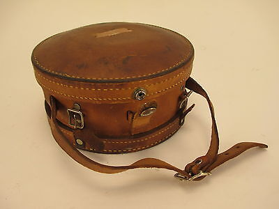 Vintage Leather Watchman's Clock Case