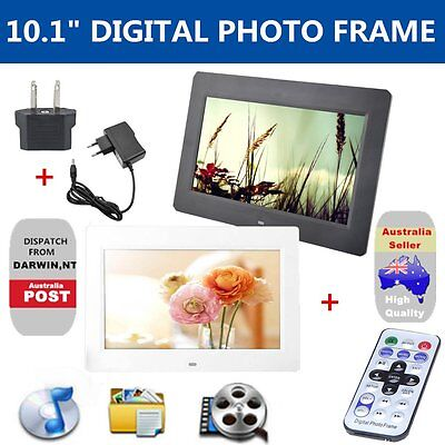 10.1 inch HD LCD Digital Photo Frame Alarm Video Player Remote HOT AU yhj