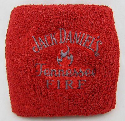 Pair of New Jack Daniel's Tennessee Fire Whiskey Red Sweat Wristbands