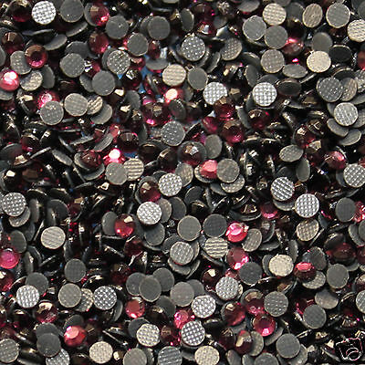 iron-on Thermo adhesive rhinestone Size s 06-2 mm Colours n°122 FUCHSIA 250 ex