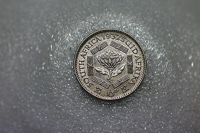 South Africa Scarce 6 Pence 1932 Awesome Details Silver A56 #k2566