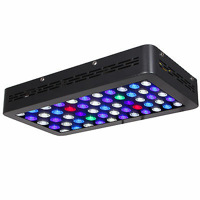 SunSpect 165W LED Aquarium Light Dimmable Full Spectrum Coral Reef Marine Tank