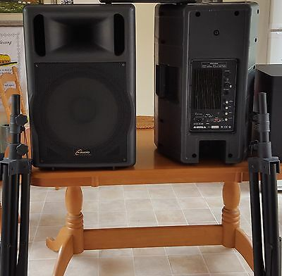 American CY professional powered speakers with stands