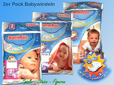 Bambino Baby Diaper, 3-6kg, 5-10kg, 8-19kg/2 Pieces Pack