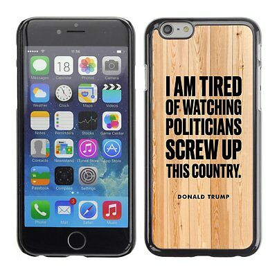 Hard Phone Case Cover Skin For Apple 1099 President Trump wooden wall brown