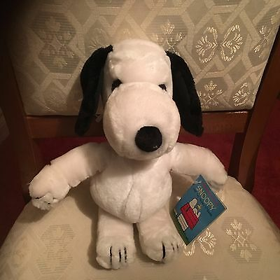 "Vintage 1968 Applause Snoopy Soft Toy Plush 12"" All Tags Attached Vgcc"