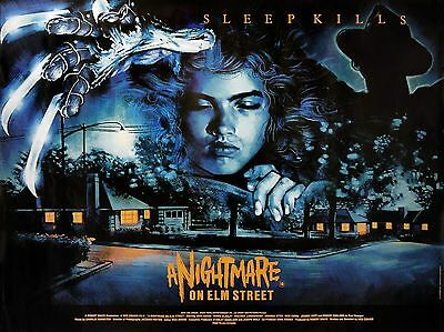 """A Nightmare on Elm Street 16"""" x 12"""" Reproduction Movie Poster Photograph"""